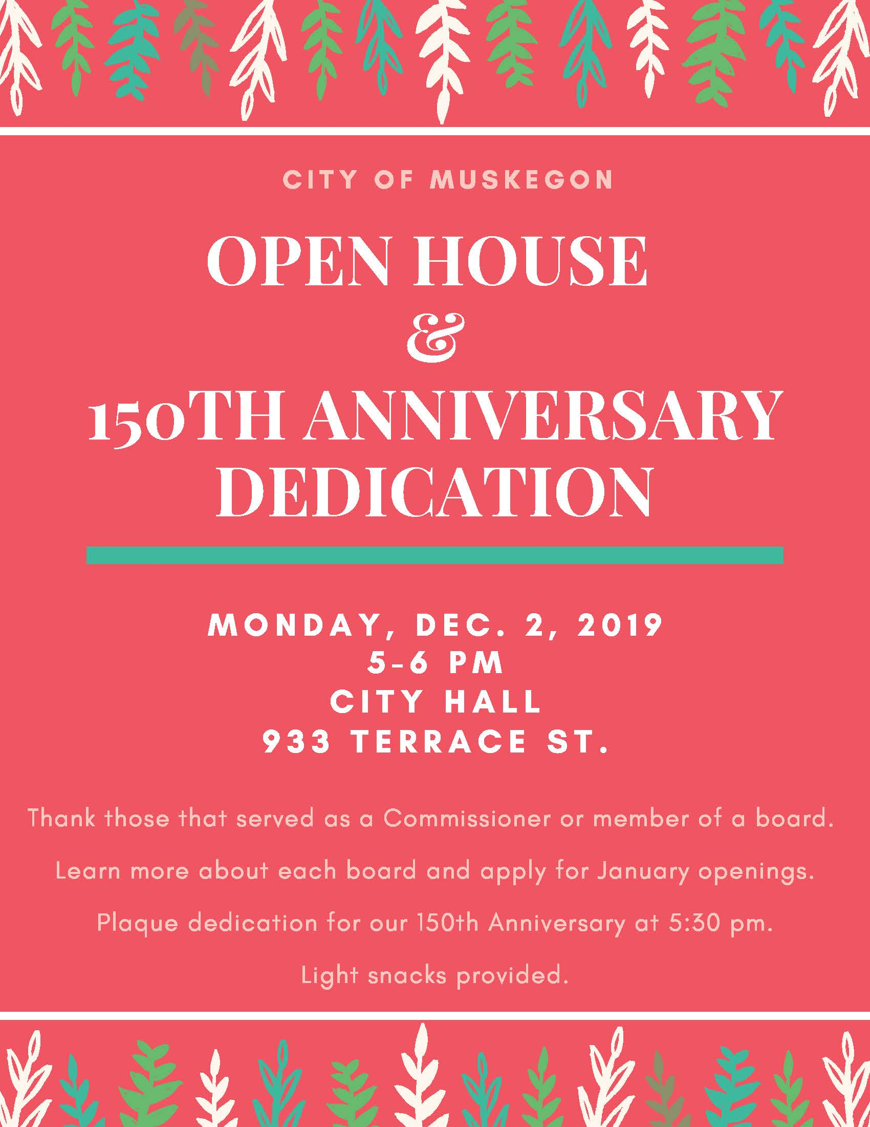 Open House & 150th Anniversary Dedication
