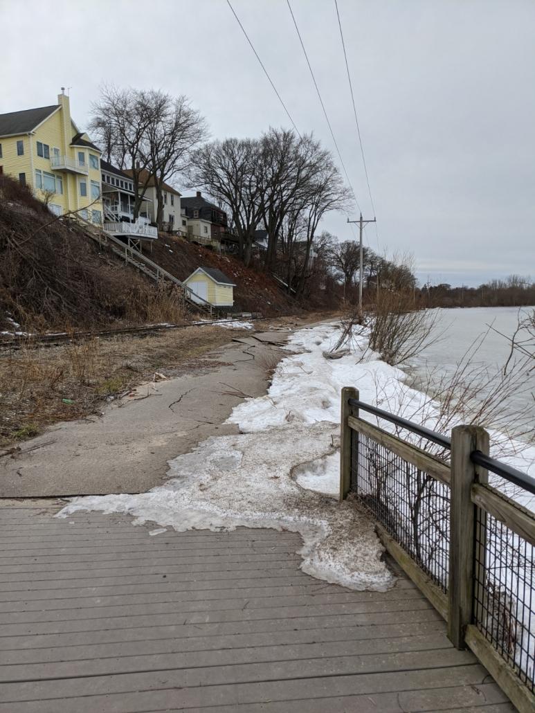Muskegon Lakeshore Trail erosion damage