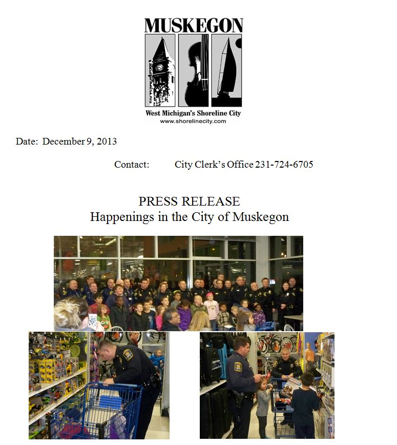 Muskegon Press Release - december 9 2013 top