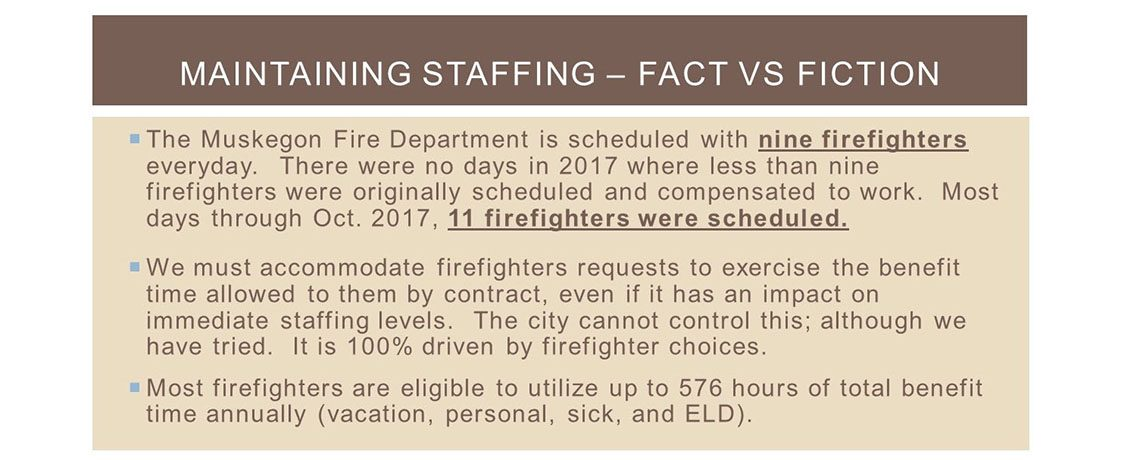 Fire Department Staffing Update for Citizens