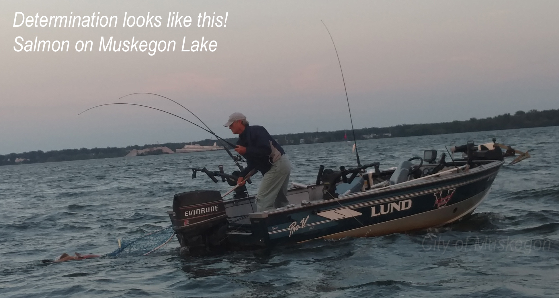 Salmon caught in Muskegon Lake