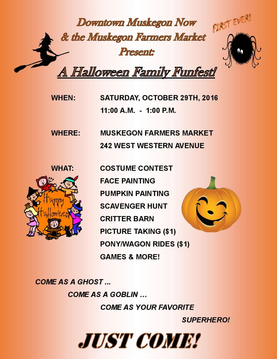 Muskegon Halloween Events 2020 October 27th Halloween Family Fun Fest at the Farmers Market | City of Muskegon